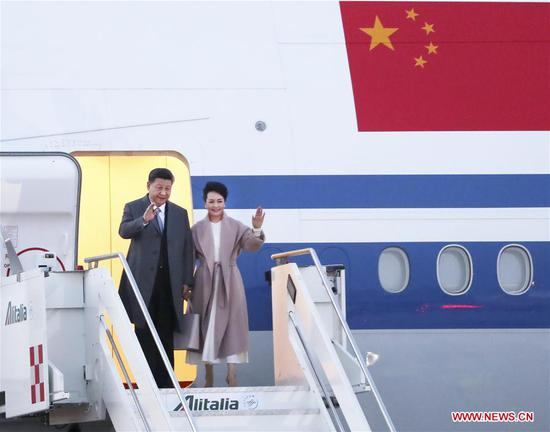 Xi arrives in Italy for state visit