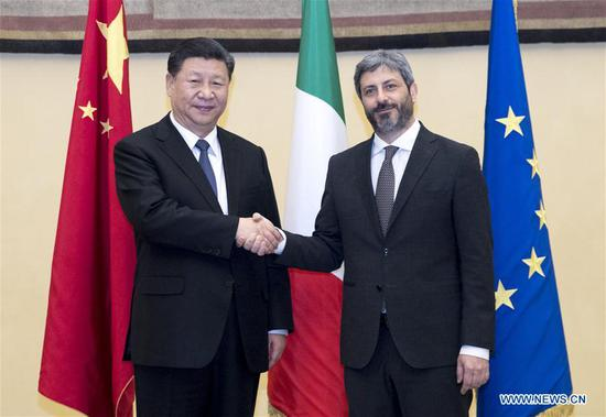 Xi meets Italian lower house speaker