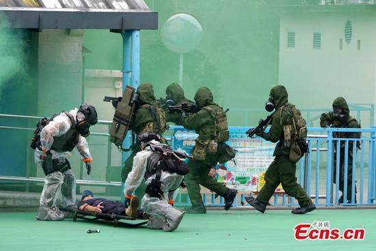 香港举行反恐演习
