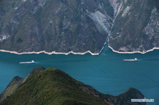 中国西南重庆的五峡峡鸟瞰图