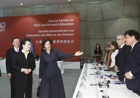 Peng Liyuan attends UNESCO special session on girls', women's education