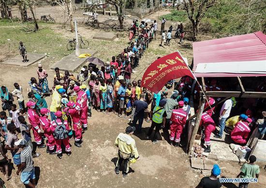 中国救援队在莫桑比克开展救灾工作