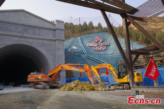 Progress made on tunnel build for Beijing-Zhangjiakou railway