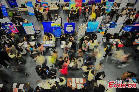 China's employment remains stable as economy steadily expands