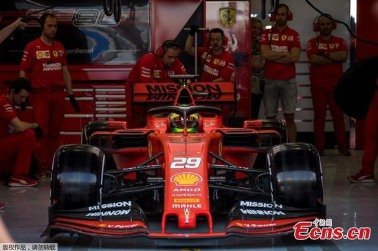 Michael Schumacher's son Mick shines in first F1 test drive for Ferrari