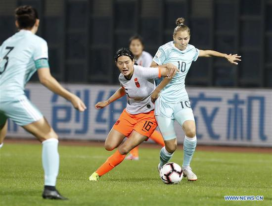 China beats Russia in Int'l Women's Football Tournament
