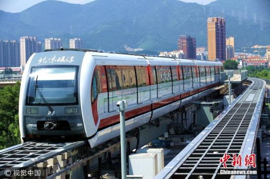 China makes first smart inspection vehicle for medium-low-speed maglev lines