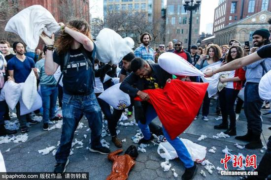 NYC kicks off annual Pillow Fight