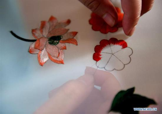 Intangible cultural heritage of China's Shijiazhuang: Xu embroidery