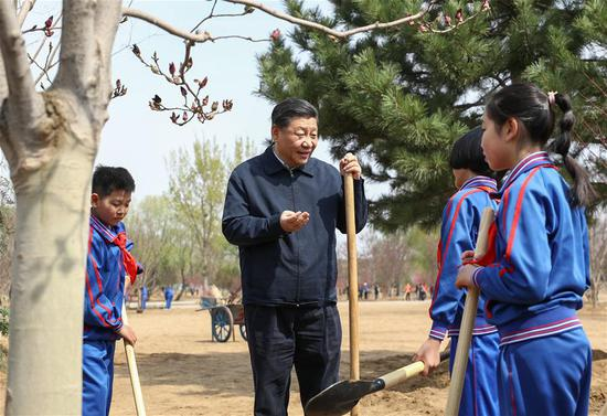 Xi stresses wide participation in promoting afforestation