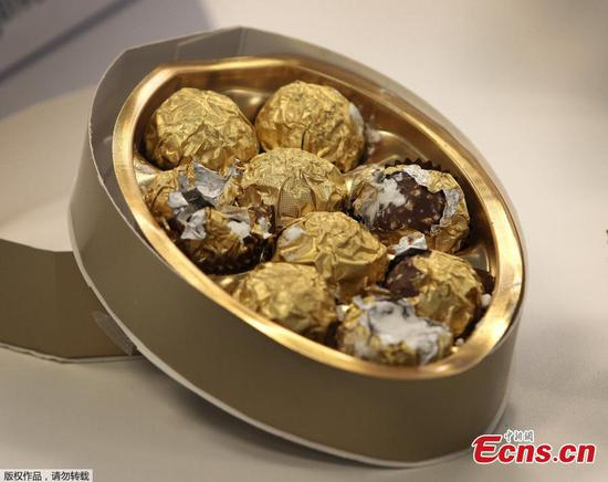 Confiscated drugs hidden inside chocolates seen in Germany