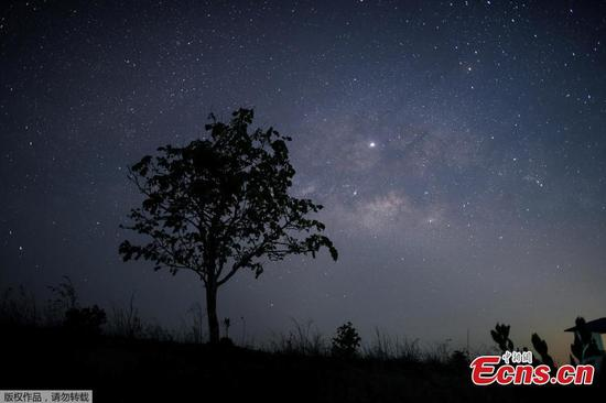 Milky Way shines upon Myanmar town