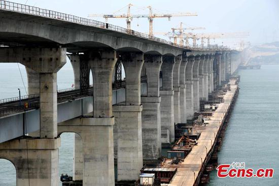 Pingtan makes progress in building cross-Straits highway-railway bridge