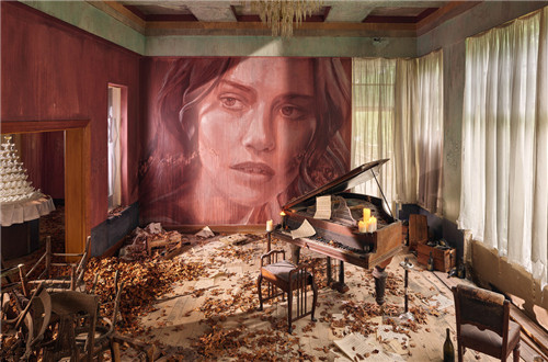 Artist turns abandoned house into installation called Empire