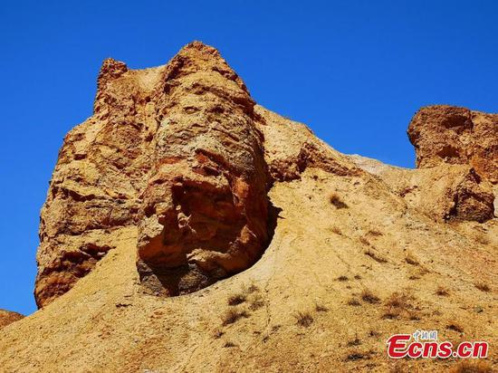 Spectacular Danxia landforms in Gansu