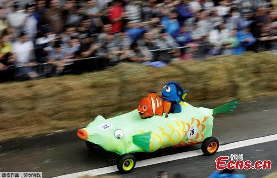 Homemade cars in soapbox race