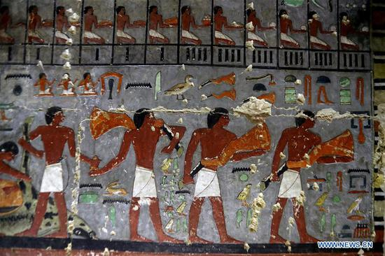 Egypt opens newly discovered Pharaonic tomb near Giza pyramids