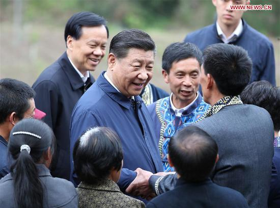 Xi goes to Chongqing on inspection tour