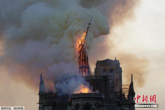 Terrible fire breaks out at Notre Dame Cathedral in Paris