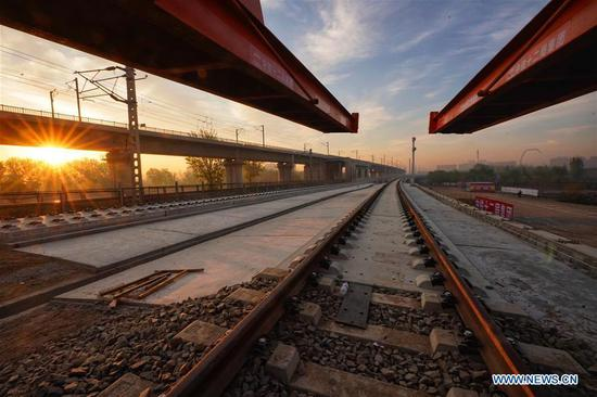 BeiDou system helps lay tracks for Beijing's intercity railway