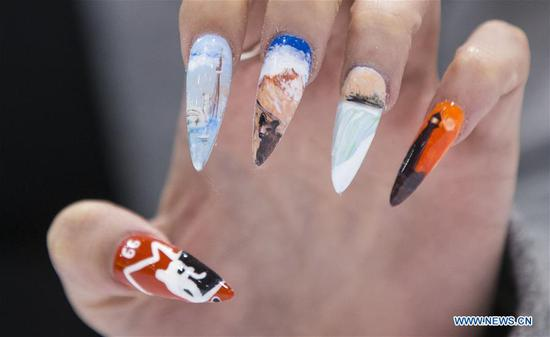Nail Art Challenge held at 2019 Revel in Beauty event in Toronto, Canada