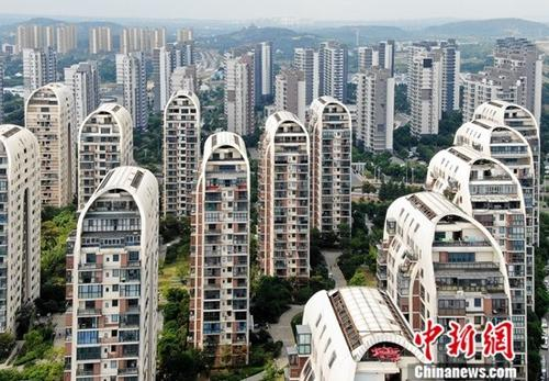 An aerial view of residential buildings in Suzhou, Jiangsu Province.(File photo/China News Service)
