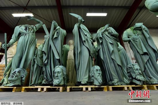 The statues that escaped the Notre-Dame fire