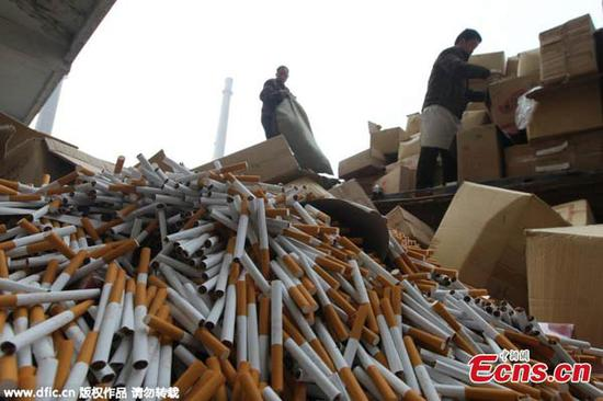 SW China police seize 9,000 cartons of counterfeit cigarettes