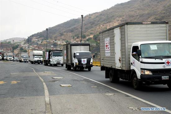 Red Cross humanitarian aid arrives in Venezuela