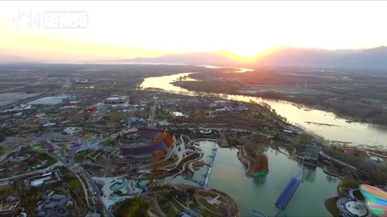 Aerial view of 2019 Beijing International Horticultural Expo