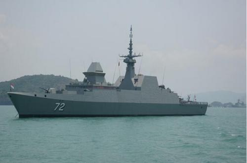 A frigate of Singaporean navy. (File photo/China News Service)