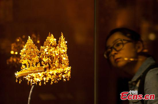 Afghan treasures displayed at Tsinghua University Art Museum