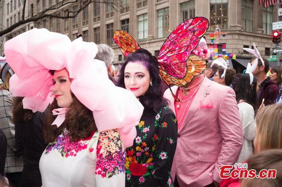 Highlights of annual Easter Parade, Easter Bonnet Festival in New York