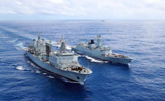 Chinese naval escort fleets ensure maritime security