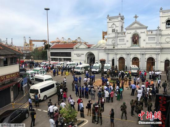 Multiple blasts hit Sri Lankan churches, hotels