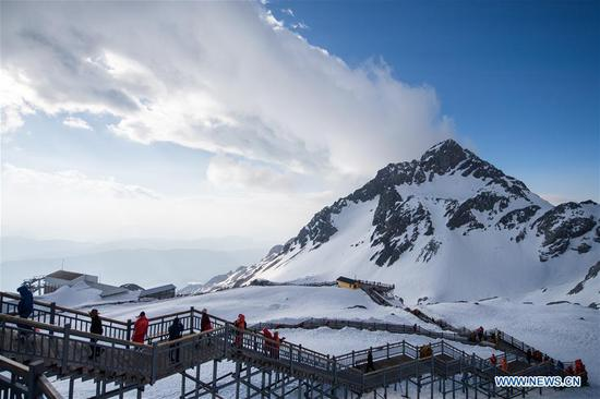 Scenery of Yulong Snow Mountain in Lijiang,Yunnan