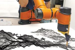 AI robot shows creative side with Chinese ink art