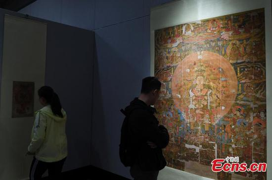 Replicas of Mogao Grottoes relics on display in Lanzhou