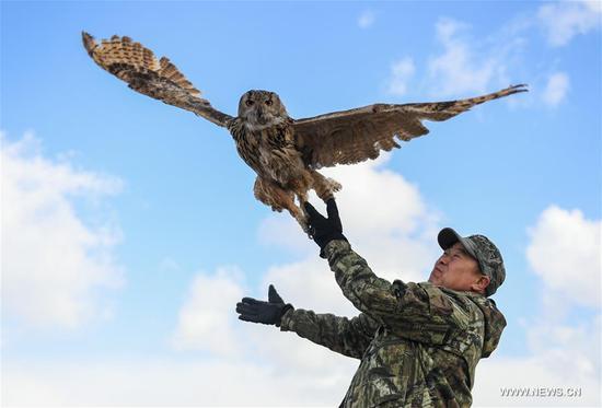 Wildlife protector in China's Inner Mongolia Autonomous Region
