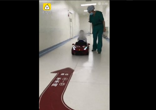 Children drive themselves into operating room