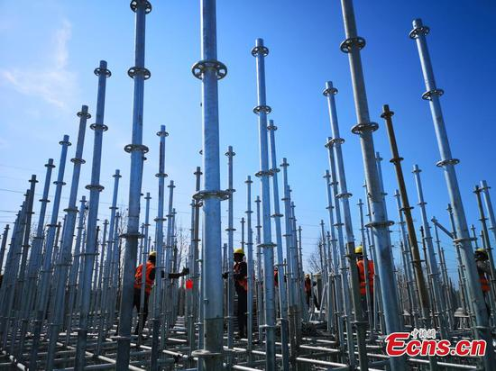 Zhengzhou applies green technology to build elevated road