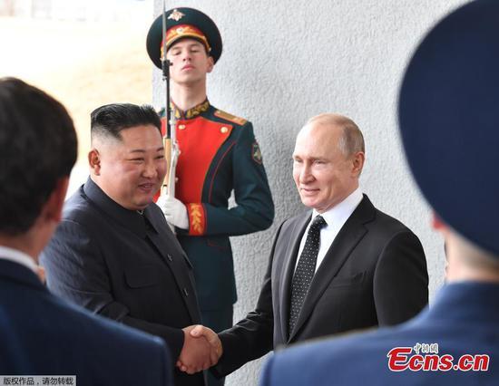 Putin, Kim hold first talks in Russia