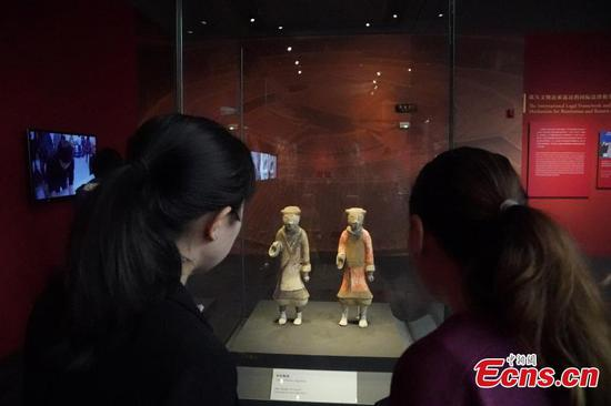 Cultural relics returned from Italy on public display in Beijing