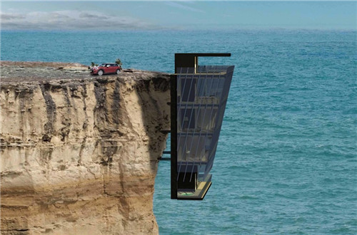 House pinned to cliff with unrivalled views of the Indian ocean