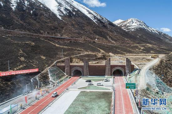 World's highest highway tunnel open to traffic