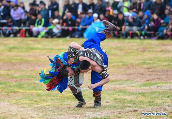 Genghis Khan Chagan Suluk Nadam Fair held in Ordos, N China's Inner Mongolia