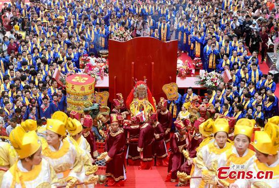 Meizhou Island marks sea goddess Mazu's 1,059th birthday