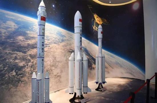 Rocket models in Chang Guang Satellite Science Museum. / Photo via JLNTV