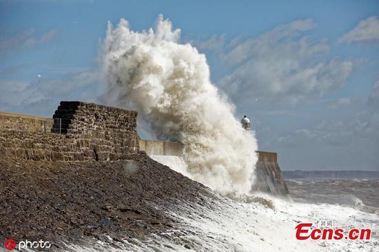 Storm Hannah batters Britain