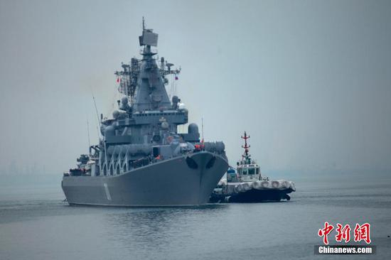 China-Russia joint exercise holds marines contests